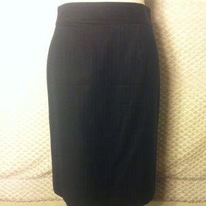 J. Crew Superfine 120's Pinstripe Pencil Skirt